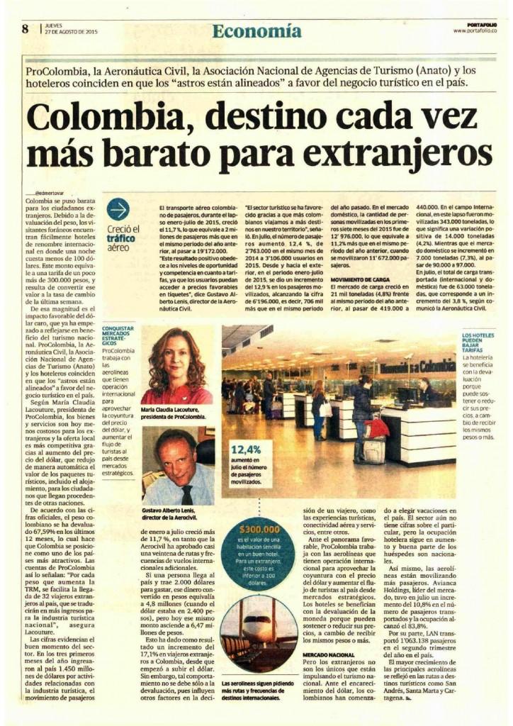 Colombia, destino cada vez más barato para extranjeros