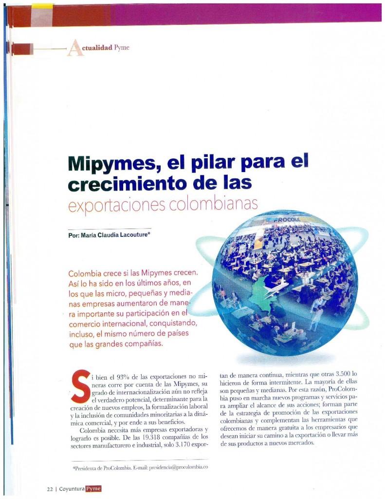 Mipymes, el pilar para el crecimiento de las exportaciones colombianas