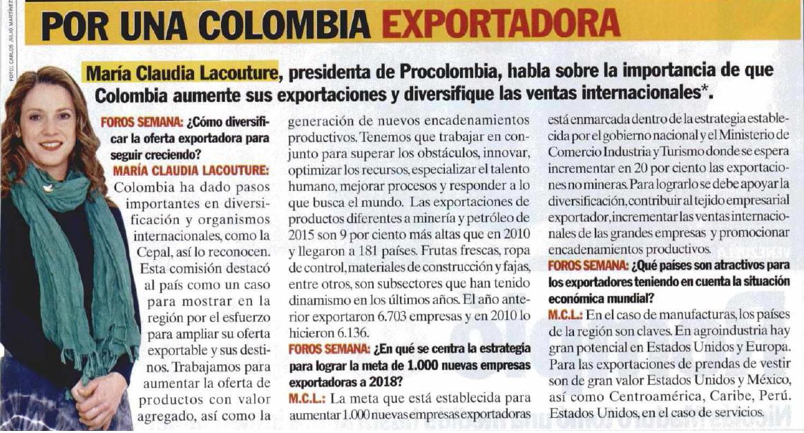 Por una Colombia exportadora